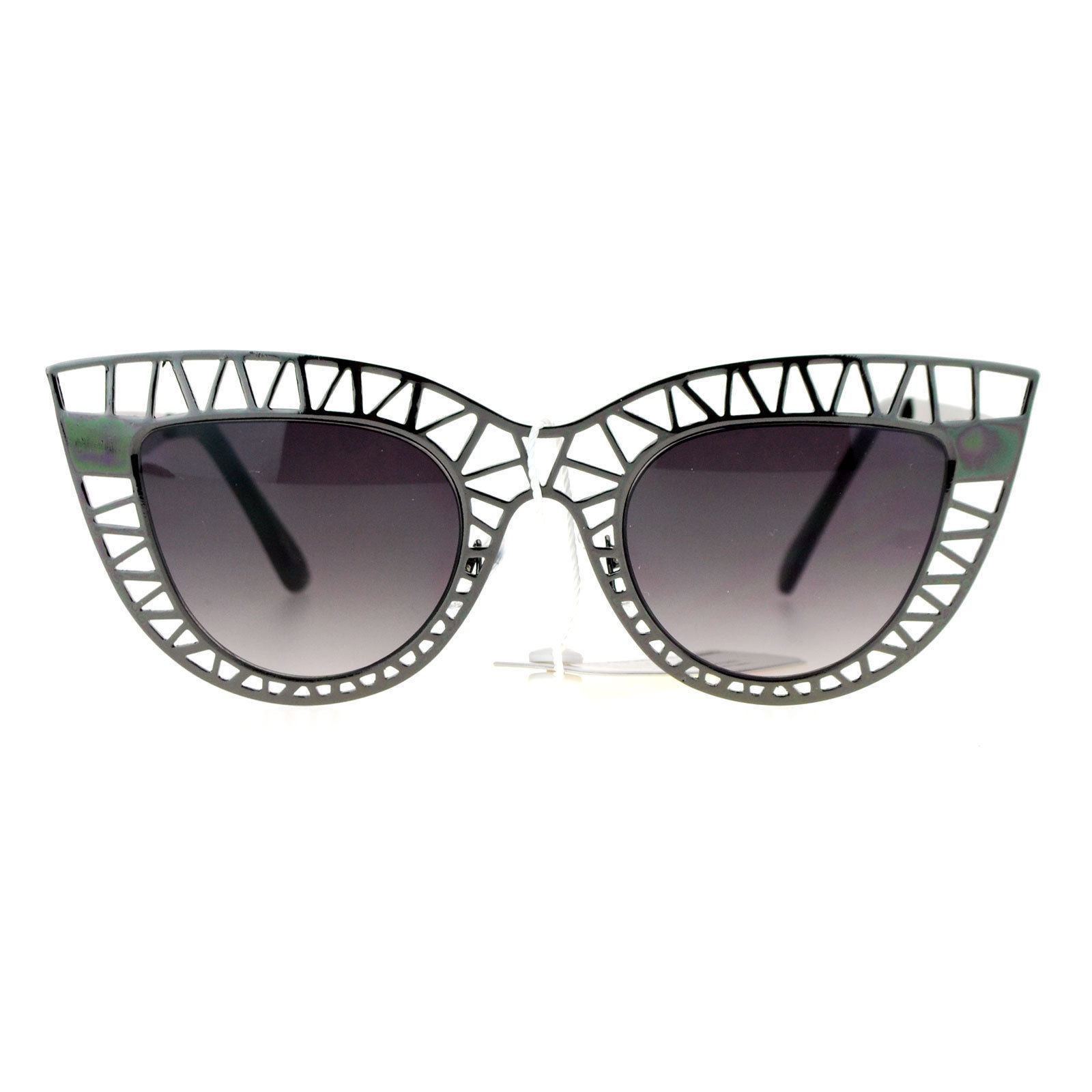 Wire Frame Cat Eye Glasses : SA106 Womens Lattice Wire Frame Unique Cat Eye Runway ...