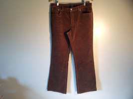 Chaps Women's Size 12 Pants Brown Corduroy Straight Leg Cut Classic 5 Pockets
