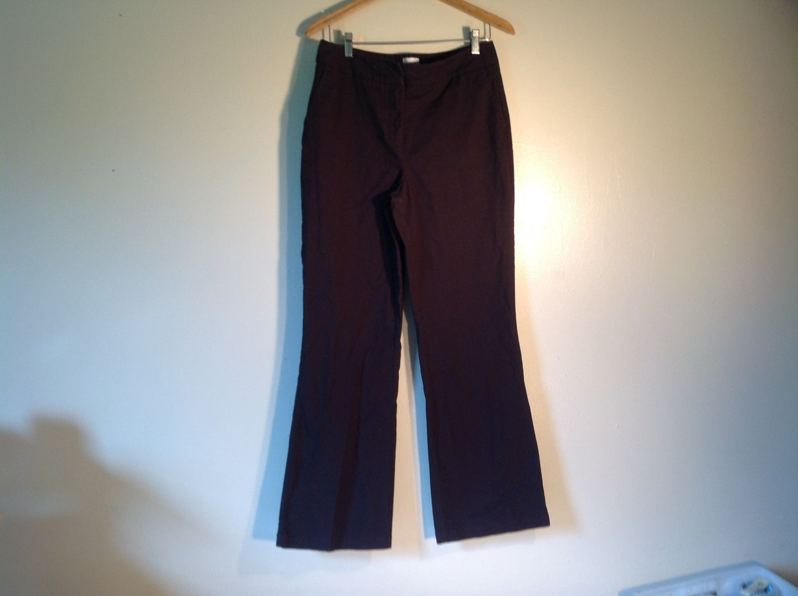 "Chico's Women's Size ""1.5"" US L Dark Brown Business Casual Pants Straight Leg"