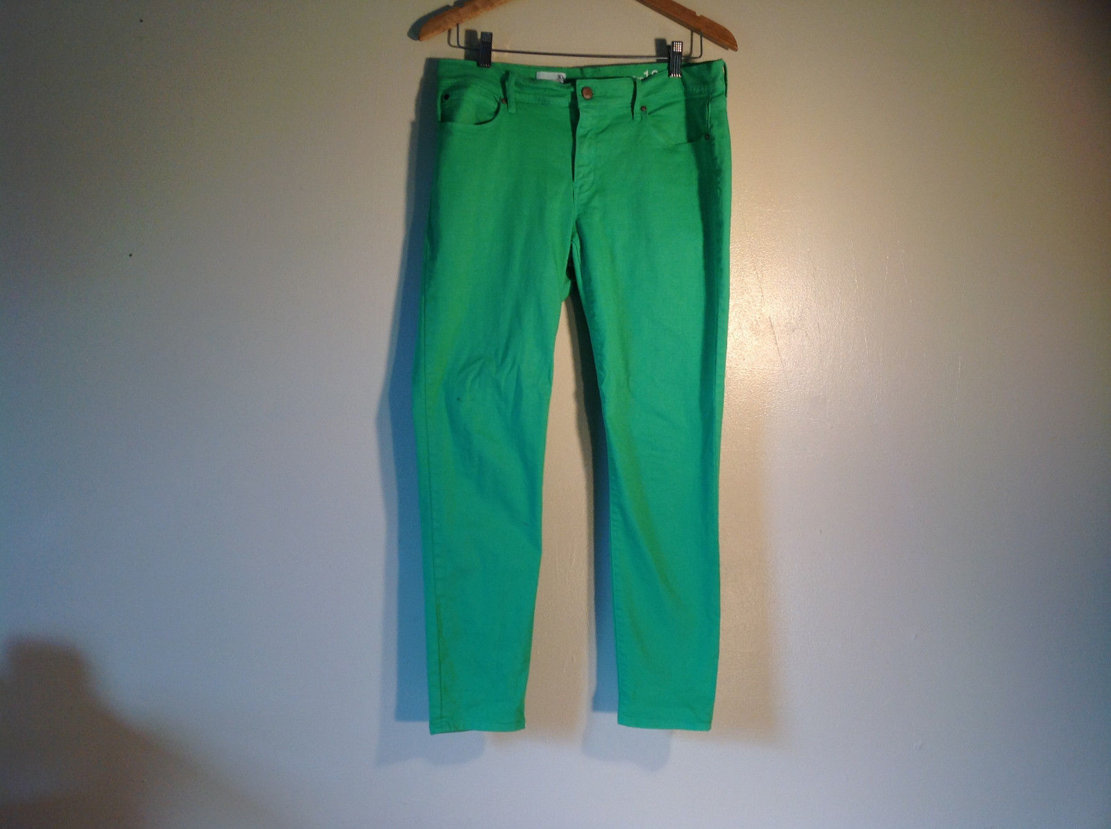 "GAP Men's Size 30R / 30 / M Pants Casual Green Cotton Blend Twill ""Legging Jean"""