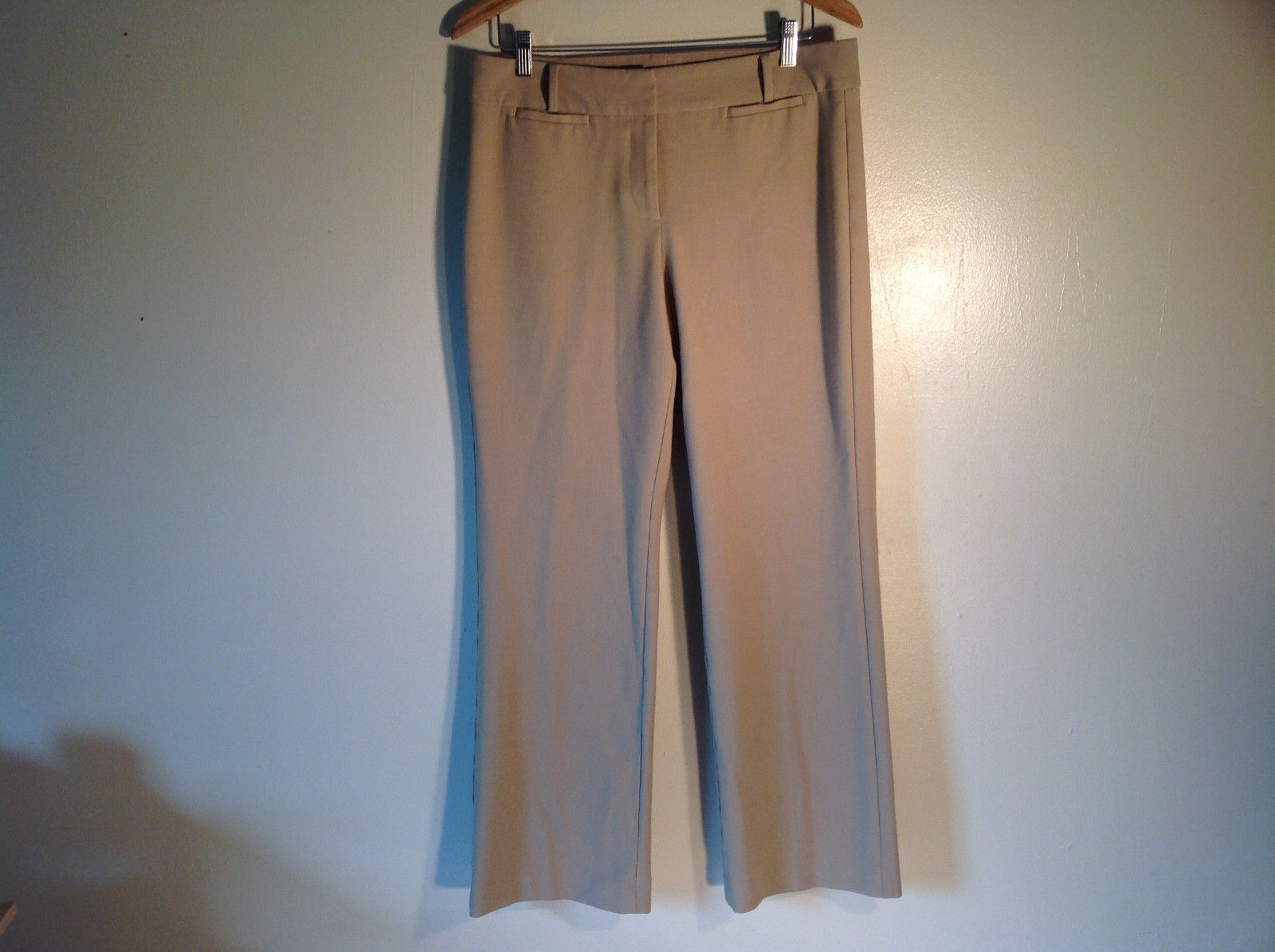 Talbots Women's Size 10 Business Casual Pants Curvy Fit Beige Camel Tan Brown
