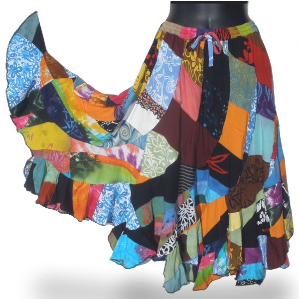 Gypsy Style Patchwork Skirt