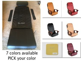 Massage seat back pillow cushion upholstery cover nail hair pedicure spa chair - $168.75