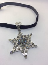 Vintage Genuine Labradorite  925 Sterling Silver Star of David Pendant C... - $381.15