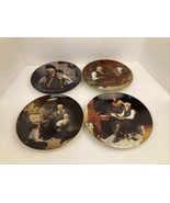 """4 Norman Rockwell Limited Edition Knowles Collector Plates NO Chips 8.5"""" READ** - $19.75"""