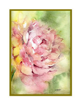 Watercolor Whisper of a Peony Note Cards Notecards, Peony Print, Peony G... - $13.00