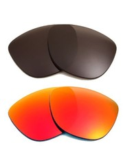 New SEEK Replacement Lenses Oakley FROGSKINS - Polarized Grey Red - $34.14