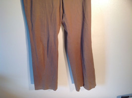 Jones New York Women's Size 6 Casual Pants Medium Earth Tone Brown Velvety Touch image 3