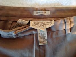 Jones New York Women's Size 6 Casual Pants Medium Earth Tone Brown Velvety Touch image 7