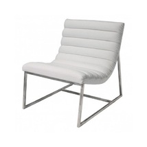 White Leather Oversized Leather Chair Ultra Contempory Sofa Chair Comfor... - $268.99