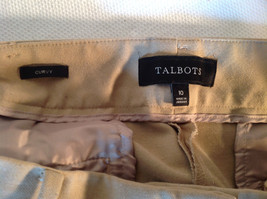 Talbots Women's Size 10 Business Casual Pants Curvy Fit Beige Camel Tan Brown image 6