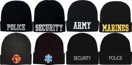 Black Military & Law Enforcement Warm Winter Beanie Watch Cap - $9.99+