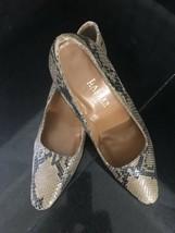 RALPH LAUREN Snakeskin Heels Pumps Shoes Size 10 C Spain Leather Sole - $29.99
