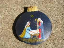 OR-515 Nativity Metal Christmas Ball Ornament  - $1.95