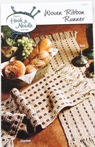 Knit or Crochet Woven Ribbon Runner Annie's Hook & Needle Club 2008 - $7.24 CAD
