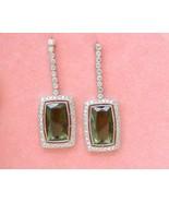10ctw GREEN TOURMALINE DROPS 1.6ctw DIAMOND PLATINUM COCKTAIL STATEMENT ... - $4,127.31