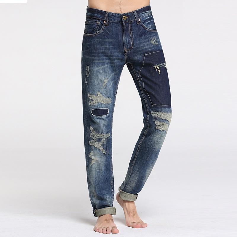 Sportsman fashion personality men's jeans image 3
