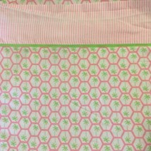 3 piece Tommy Hilfiger Twin Sheet Set 100% Cotton Pink Green Palm Trees ... - $34.99