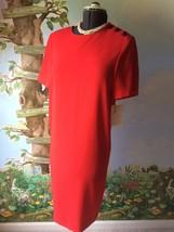 Liz Claiborne Red Short Sleevele Dress SZ 8 NWT - $49.49