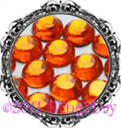 Primary image for 1440 of 3MM - HYACINTH - Orange - Rhinestones Iron on Hot Fix 10 gross - 10ss