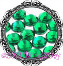 1440 of 3MM - EMERALD - Green - Rhinestones Iron on Hot Fix 10 gross - 1... - $5.99