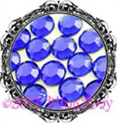 Primary image for 1440 of 3MM - COBALT - Royal Blue - Rhinestones Iron on Hot Fix 10 gross - 10ss