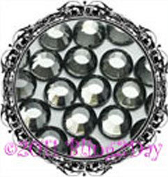 Primary image for 1440 of 3MM - Black Diamond - Grey - Rhinestones Iron on Hot Fix 10 gross - 10ss