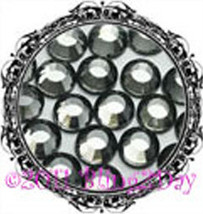 1440 of 3MM - Black Diamond - Grey - Rhinestones Iron on Hot Fix 10 gros... - $5.99