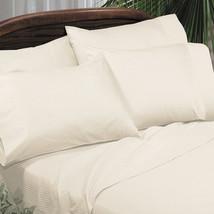 Sferra Elyse Stripe Ivory King Sheet Set 100% Egyptian Cotton Sateen Ita... - $255.00