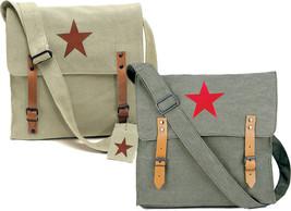 Vintage Military Red China Star Canvas Shoulder Bag - $16.99