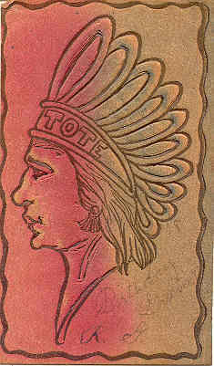 Indian Head leather Post Card