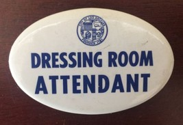 Vintage City of Los Angeles Dressing Room Attendant Oval Pin - $18.51