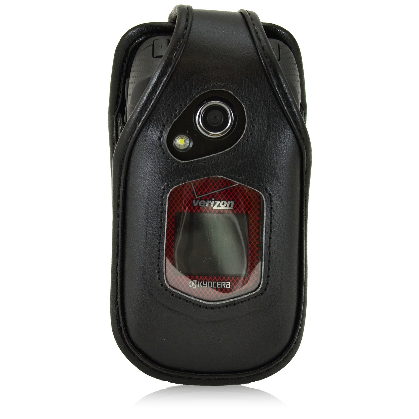Turtleback Fitted Case for Kyocera DuraXV Flip Phone Black Leather Rotating Remo image 4