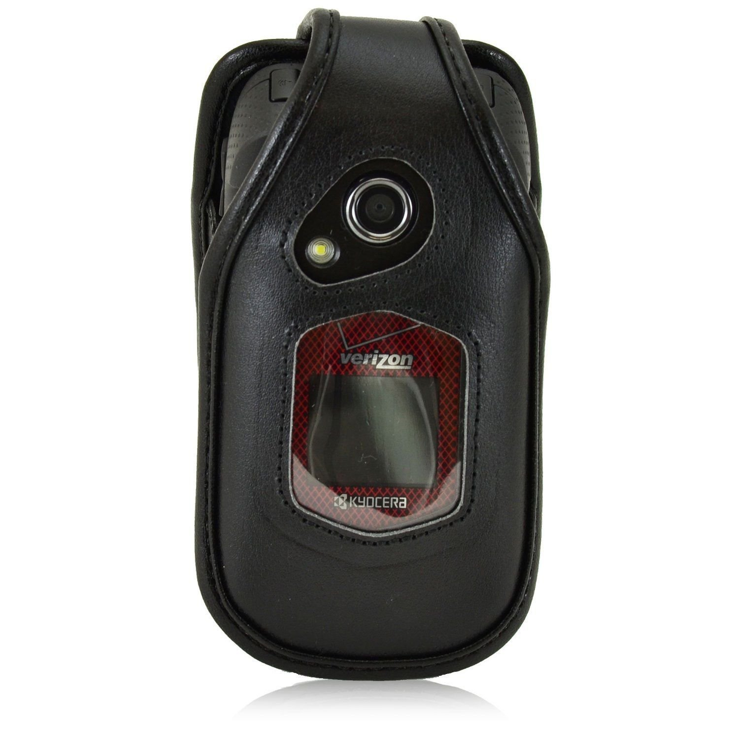 Turtleback Fitted Case for Kyocera DuraXV Flip Phone Black Leather Rotating Remo image 5