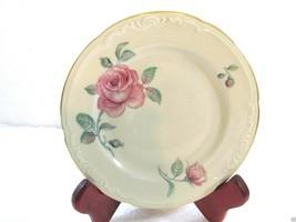 "5 Royal Bayreuth Rose Roses Pattern Bread & Butter  plates 6"" Vintage EU... - $23.91"