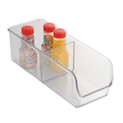 InterDesign Linus Small Divided Binz Pantry Organizer  Clear