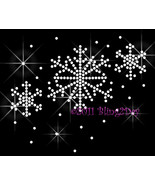 Winter Snowflake - Iron on Rhinestone Transfer Bling Hot Fix Applique Ch... - $6.99