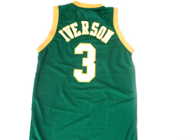 Allen Iverson #3 Bethel High School Basketball Jersey Green Any Size image 5