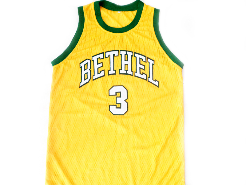 Allen Iverson #3 Bethel High School Basketball Jersey Yellow Any Size