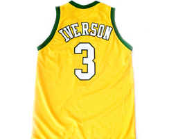 Allen Iverson #3 Bethel High School Basketball Jersey Yellow Any Size image 2