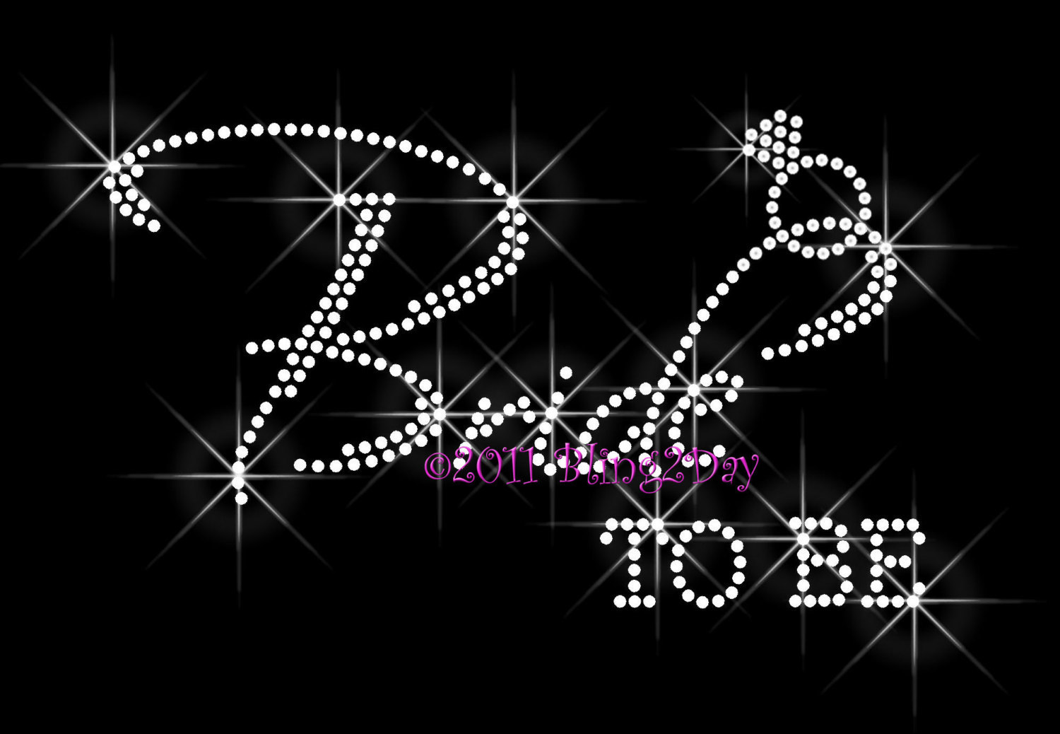 Primary image for Bride To Be - with Diamond Ring - Iron on Rhinestone Transfer Bling Hot Fix