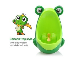 Baby Boy Tranning Urine Potty Kids Pee Trainer Toilet Frog Design Removable - $19.79