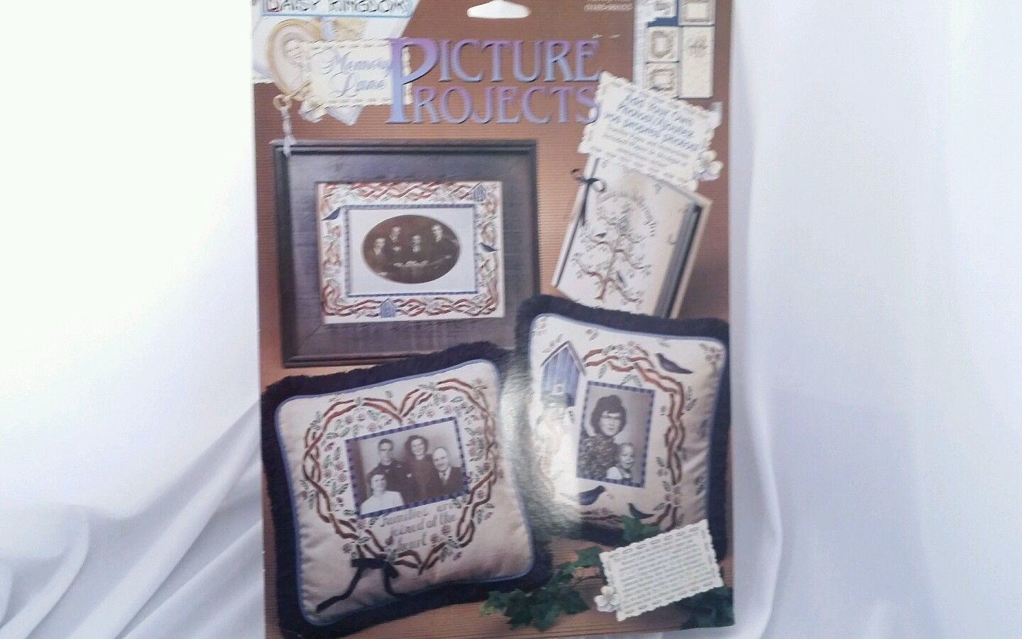 Memory Lane Family Tree Screen Print Light-Weight Fabric Panel OOP NOS