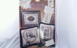 Memory Lane Family Tree Screen Print Light-Weight Fabric Panel OOP NOS - $18.69