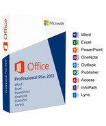 Microsoft Office 2013 Professional Plus Product Key Code  - $49.00