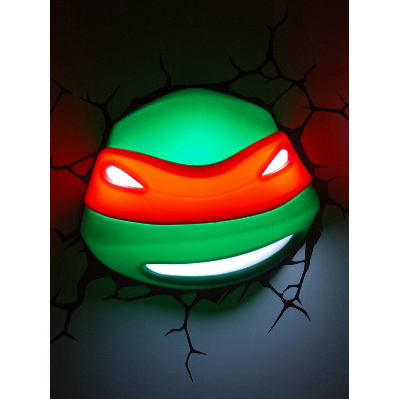 3DLightFX Teenage Mutant Ninja Turtles Series 3D Deco Night Light - RAPHAEL HEAD