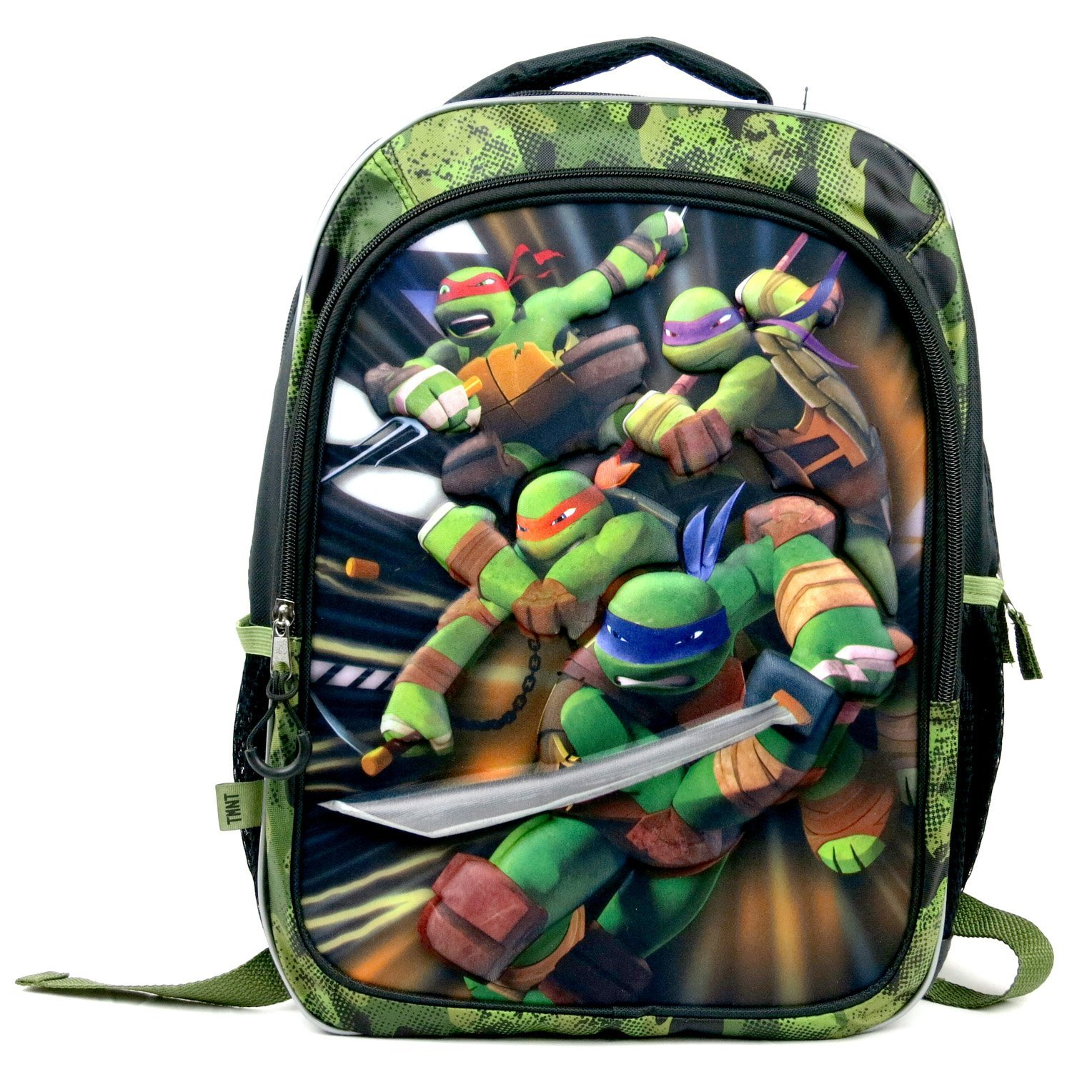 Teenage Mutant Ninja Turtles School Backpack with 3-D Foam Image of Leonardo, Mi