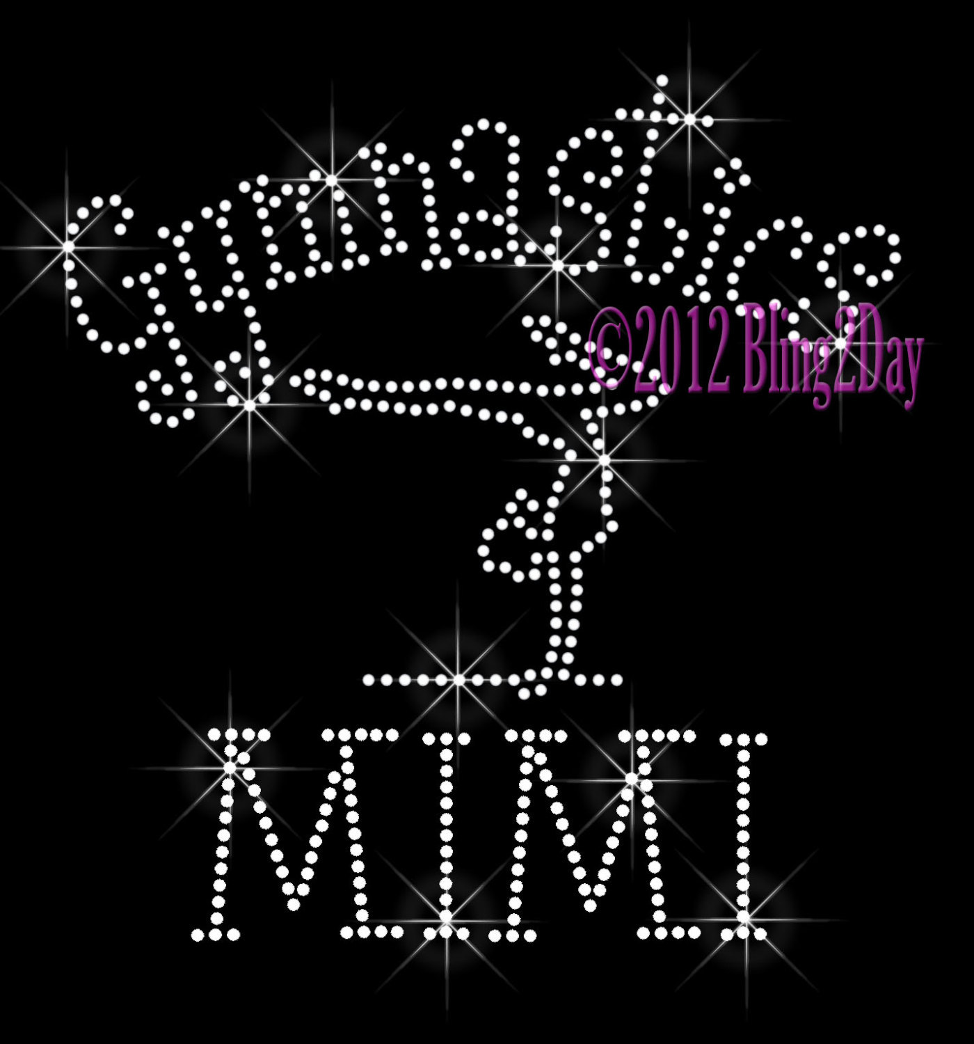 Primary image for Gymnastics MIMI - C - Iron on Rhinestone Transfer Bling Hot Fix Sports School