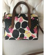 Fossil Hailey Black Floral Satchel Handbag New FREE SHIPPING!!! - $79.99