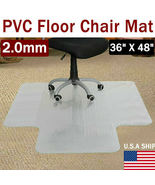"36""X48"" Clear PVC Carpet Rug Protective Mat Pad For Floor Office Rolling... - $31.70"